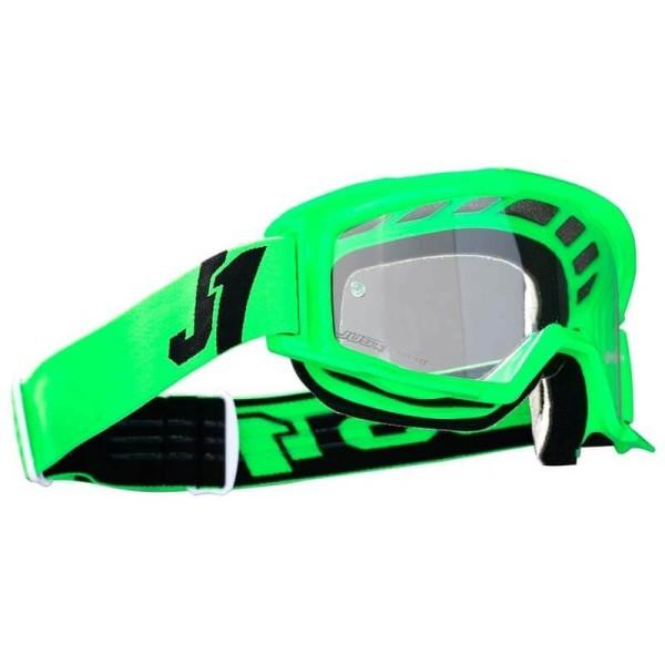 Motocross goggles Just1 Vitro fluo green