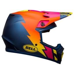 Bell MX-9 Strike Mips blue orange pink helmet