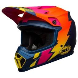 Bell MX-9 Strike Mips Helm blau orange pink