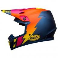 Casco moto Bell MX-9 Strike Mips azul naranja rosa