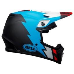 Bell MX-9 Strike Mips Helm schwarz blau weiß