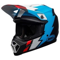 Casco moto Bell MX-9 Strike Mips negro azul blanco