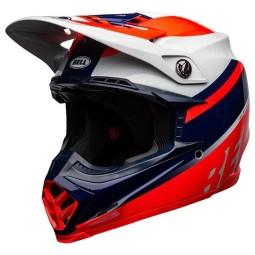 Casco Bell Moto-9 Mips Prophecy rosso blu grigio