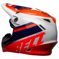Casco moto Bell Moto-9 Mips Prophecy rojo azul gris