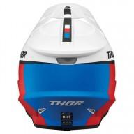 Motocrosshelm Thor Sector Racer white blue red