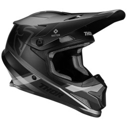 Casco de motocross Thor Sector MIPS Split charcoal black