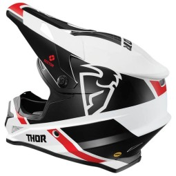 Casco motocross Thor Sector MIPS Split white black