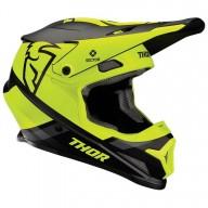 Motocross Helmet Thor Sector MIPS Split black acid