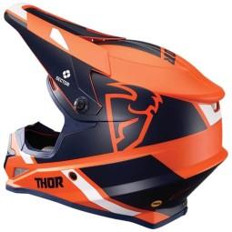 Casco de motocross Thor Sector MIPS Split orange navy
