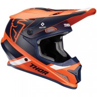 Casque motocross Thor Sector MIPS Split orange navy