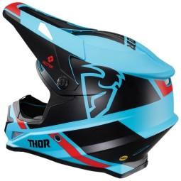 Casco de motocross Thor Sector MIPS Split blue black
