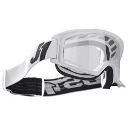 Occhiali motocross Just1 Vitro white