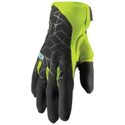 Motocross gloves Thor Draft black acid