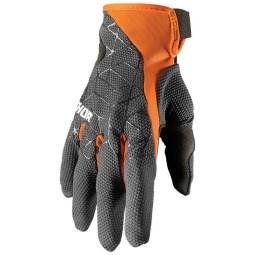 Motocross gloves Thor Draft charcoal orange