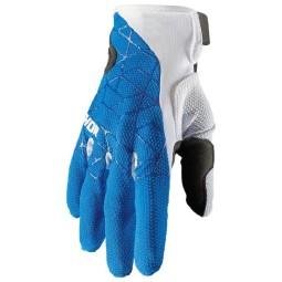 Gants motocross Thor Draft blue white