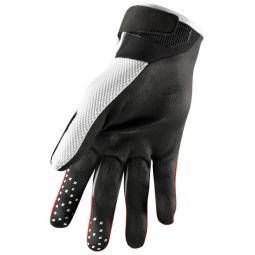 Gants motocross Thor Draft red white