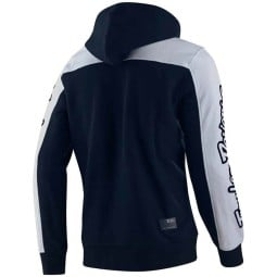 Hoodie Troy Lee Designs Block Signature navy white