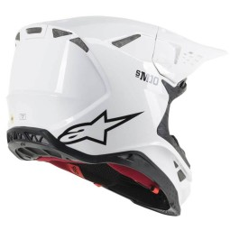 Casco Motocross Alpinestars S-M10 Solid white