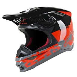 Casco de Motocross Alpinestars S-M8 Radium gray red
