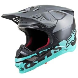Motocross Helm Alpinestars S-M8 Radium gray tea