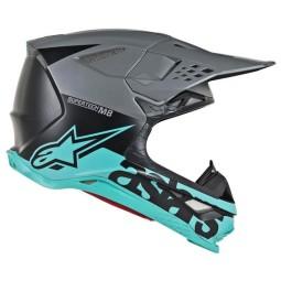 Motocross Helmet Alpinestars S-M8 Radium gray tea