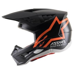Motocross Helmet Alpinestars SM5 Comps black orange