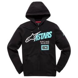 Sweatshirt Alpinestars Title Zip Black