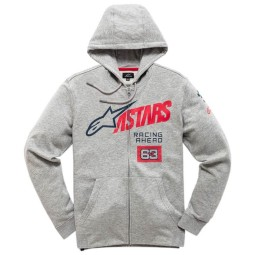 Sweatshirt Alpinestars Title Zip gray