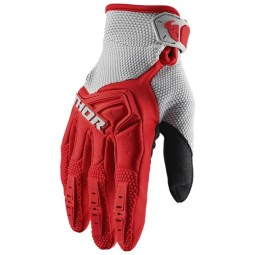 Motocross gloves Thor Spectrum red gray