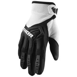 Motocrosshandschuhe Thor Spectrum black white