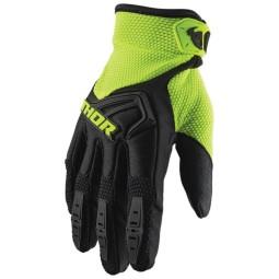 Motocross gloves Thor Spectrum black fluo