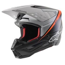 Motocross Helmet Alpinestars SM5 Rayon grey black silver