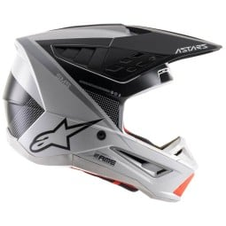 Casco Alpinestars SM5 Rayon black white orange