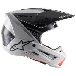 Motocross Helmet Alpinestars SM5 Rayon black white orange