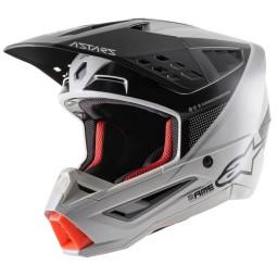Alpinestars Helm SM5 Rayon black white orange