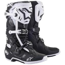 Alpinestars Tech 10 bottes motocross noir blanc