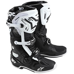 Alpinestars Tech 10 stivali motocross nero bianco