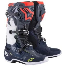 Alpinestars Tech 10 Motocross Stiefel grau blau