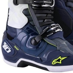 Alpinestars Tech 10 bottes motocross gris bleu