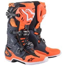 Alpinestars Tech 10 stivali motocross grigio arancione