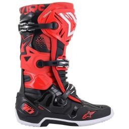 Alpinestars Tech 10 Motocross Stiefel schwarz rot