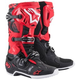 Alpinestars Tech 10 black red motocross boots