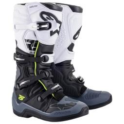 Botas Motocross Alpinestars Tech 5 black grey white