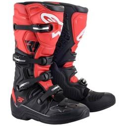Motocrossstiefel Alpinestars Tech 5 black red
