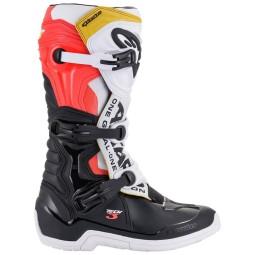 Motocross Boots Alpinestars Tech 3 black white red