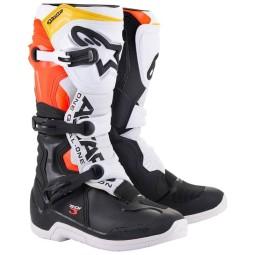 Motocrossstiefel Alpinestars Tech 3 black white red
