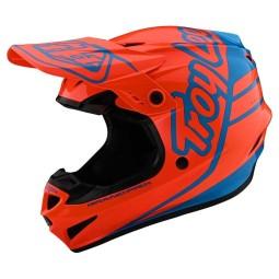 Casco cross Troy Lee Designs GP Silhouette orange cyan