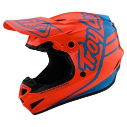 Casque cross Troy Lee Designs GP Silhouette orange cyan