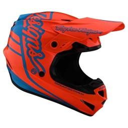 Motocross Helm Troy Lee Designs GP Silhouette orange cyan