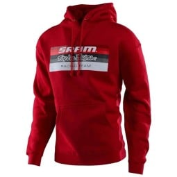 Felpa Troy Lee Designs Sram Racing rosso